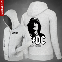 Agitation Males Sweatshirts Band ACDC New Hip Hop Unfastened Informal Jacket Outsized Hoodies For Boys Cotton Svitshot Sweats Menswear