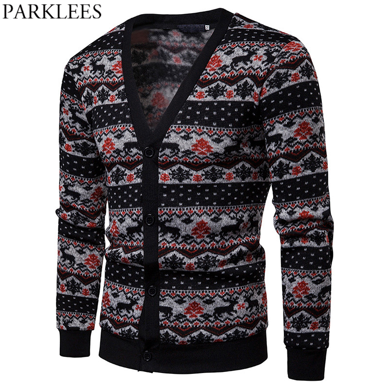 Mens Long Style Cardigan Sweater Patchwork Knitted Cardigan Stitch Men Casual Sweater