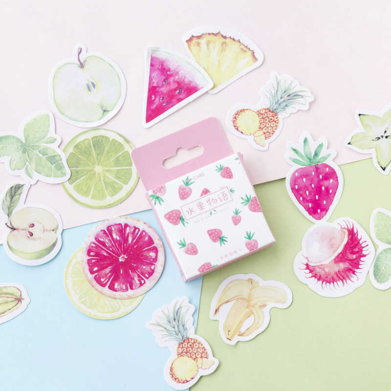 45 Pcs/lot Healthy Fruit Stickers Set Decorative Toy Stickers Scrapbooking DIY Diary Album Stick Lable