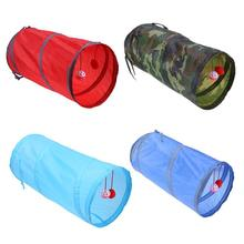 Funny Pet Cat Tunnel 2 Holes Play Tubes Balls Collapsible Crinkle Kitten Toys Puppy Ferrets Rabbit Dog