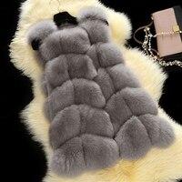 2015 New Brand Genuine 100 Natural Real Fox Fur Vest Women Winter Luxury Full Pelt Fur