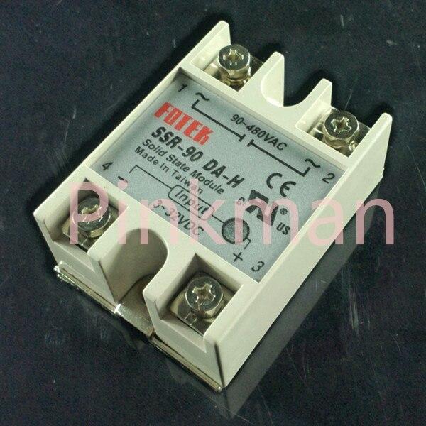1 pc FOTEK 90DA-H Solid State Relay  SSR  Single Phase DC-AC normally open single phase solid state relay ssr mgr 1 d48120 120a control dc ac 24 480v
