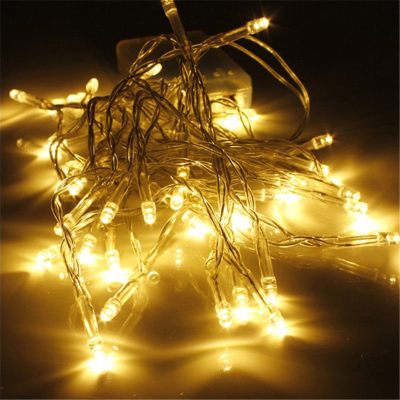 Furniture 2019 Latest Design Hot Sell Aa Battery 10/20/30/40 Leds Warm White Christmas String Fairy Lights Utmost In Convenience