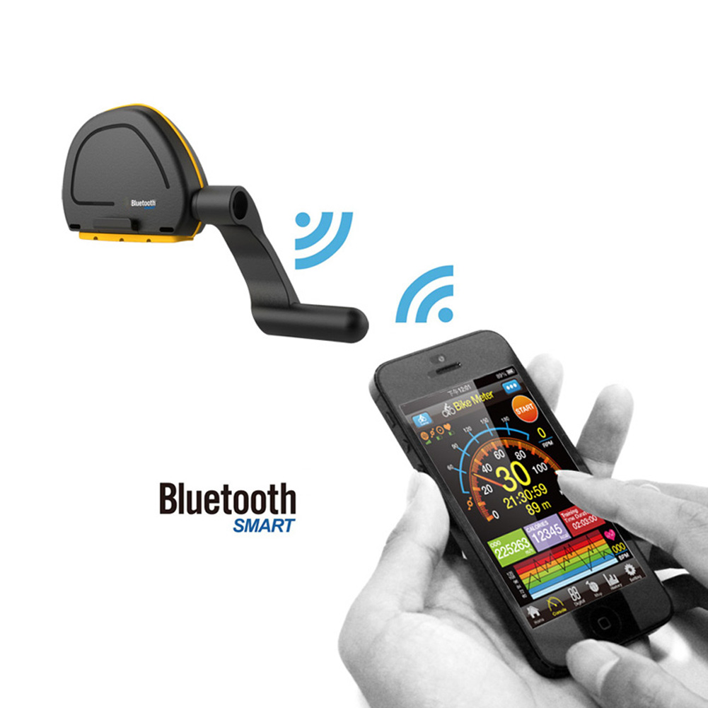 Bicycle Computer Bluetooth 4.0/IOS/Android Riding GPS Wireless Speedometer Odometer Cycling Speed Meter Fitness Smartphone APP