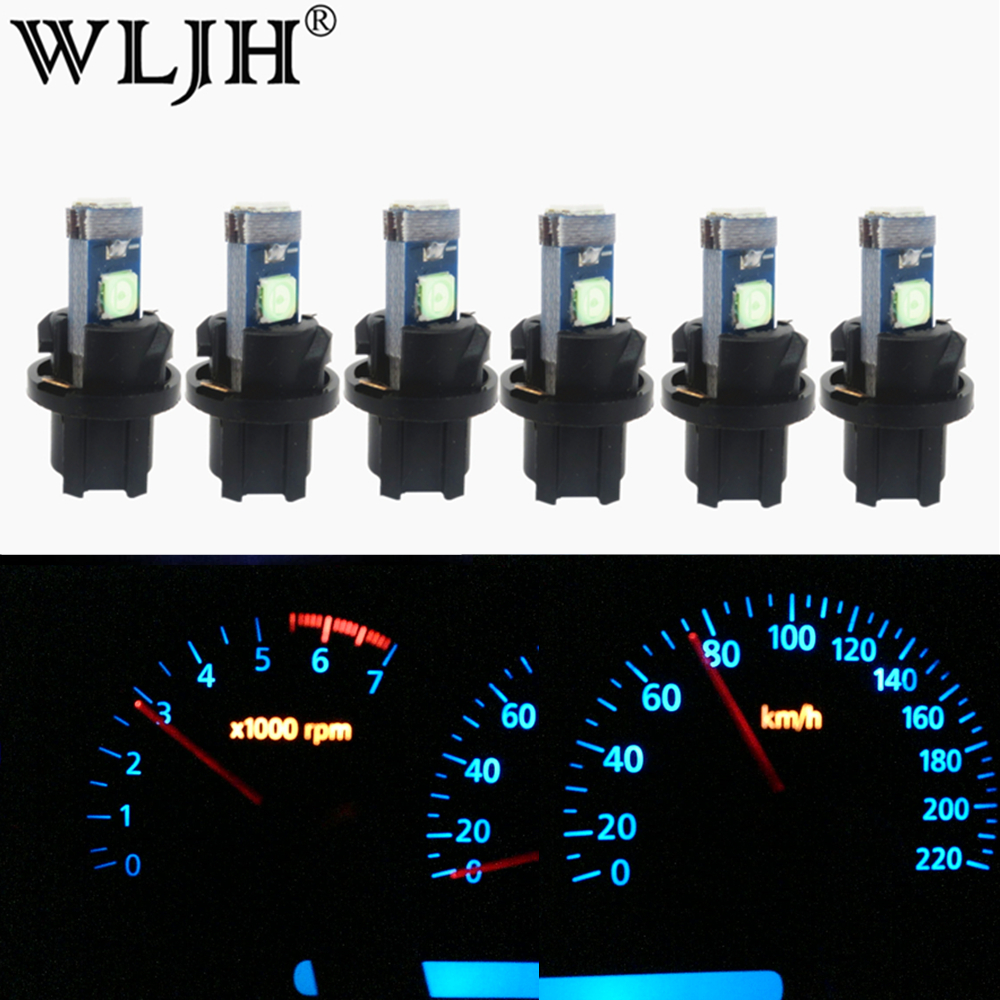 WLJH 6x T5 LED Light PC74 Lamp Car Dashboard Instrument Panel Light Bulb for <font><b>Honda</b></font> CR-V Civic Odyssey <font><b>Accord</b></font> Prelude CRX S2000 image