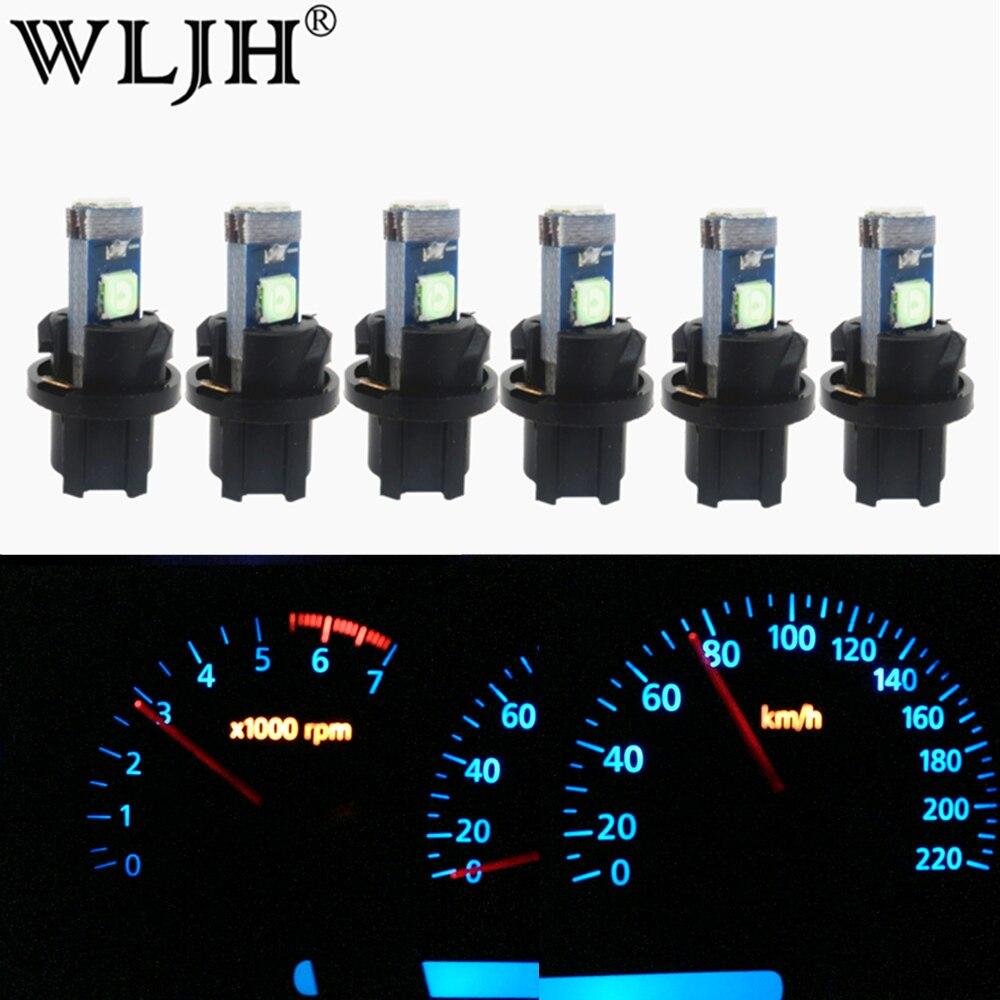wljh lampada luz de led 6x t5 luzes para painel de carro instrumento e luz para
