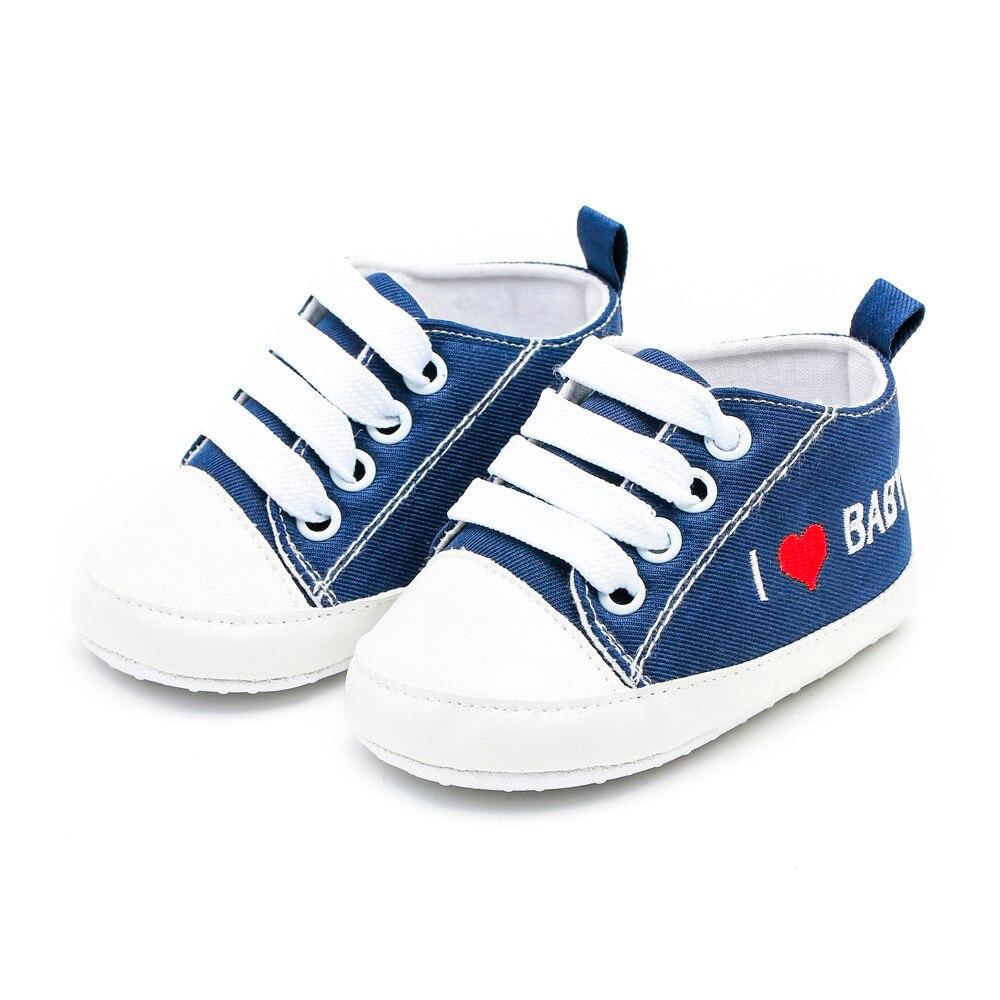 Arloneet Shoes Newborn First-Walkers Baby-Girls-Boys Soft-Sole Casual Letter Heart Print