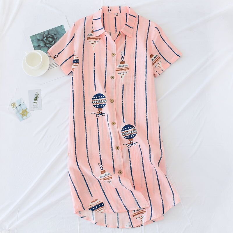 2019 Design Casual Nightdress For Women Short-sleeved Nightgowns Sleepshirts Soft Cotton Home Skirt Female Homewear Dress