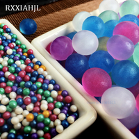 1900g/lot 3 3.5mm Wholesale Pearly lustre Water Beads Crystal Soil Hydrogel Gel Mud Growing Water Balls Wedding Decor RX3 3.5