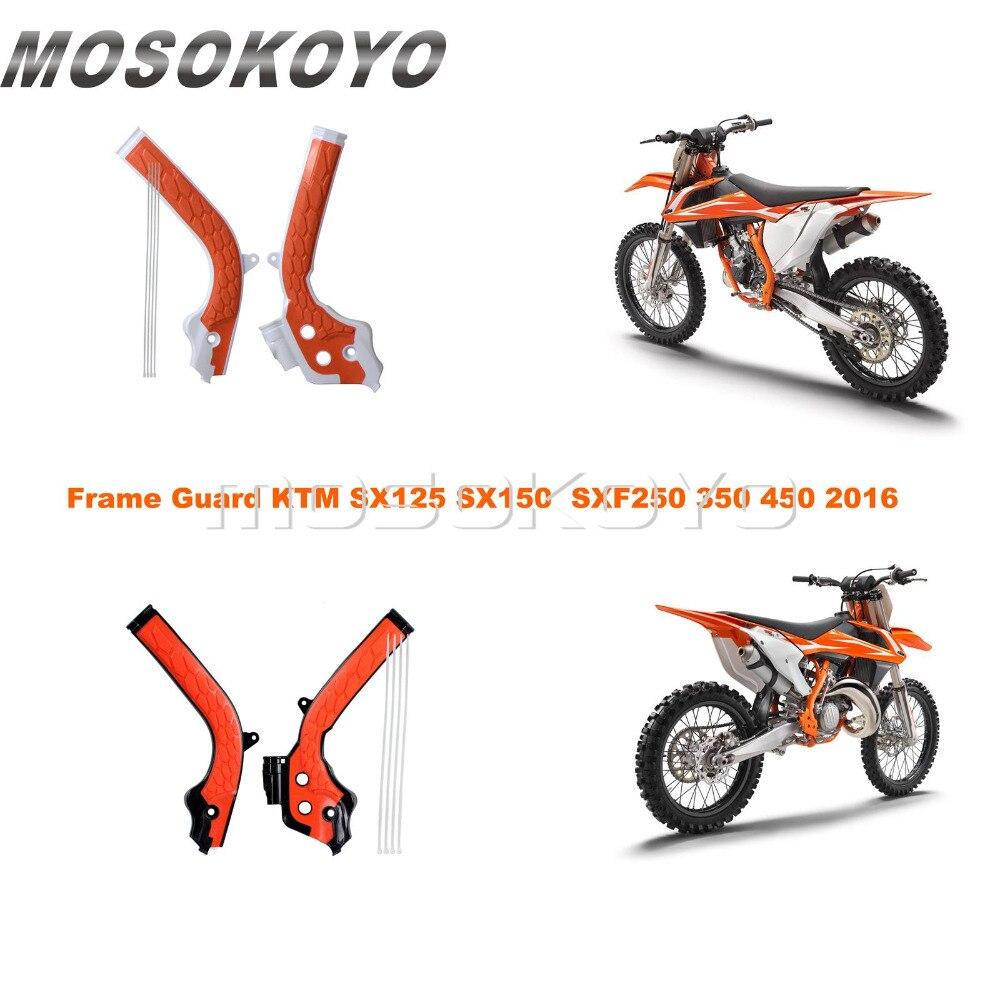 Orange Dirt Bike Motocross Frame Guard Frame Cover Protector For KTM SX125 SX150 SXF EXC-F EXC 250 350 450 2016-2018 X-Grip