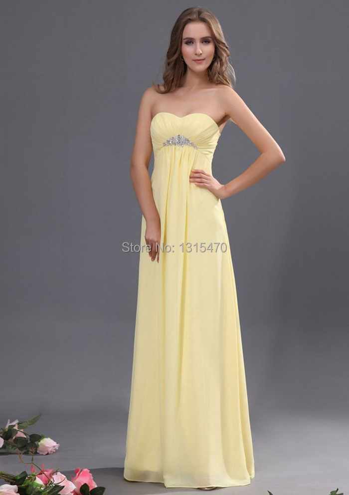 Popular Light Yellow Chiffon Bridesmaid Dresses-Buy Cheap Light ...