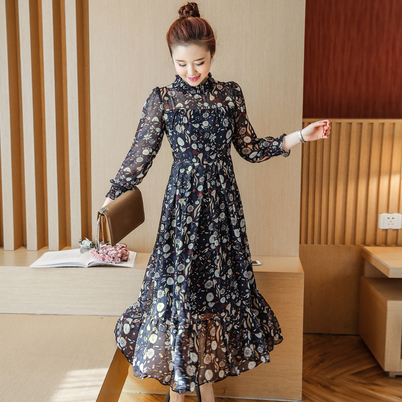ee014af5275d3 Maternity dresses 2018 Spring and summer New Korean Fashion Chiffon Long  Sleeve Floral Pregnant Woman Dress. sku: 32857816565
