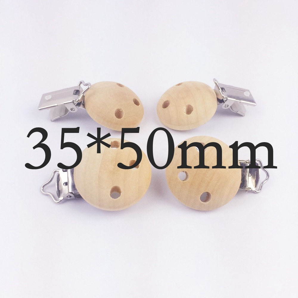 Let's make wooden 20pc pacifier maple metal clips holder round teether pacifier wooden teething beads baby teether