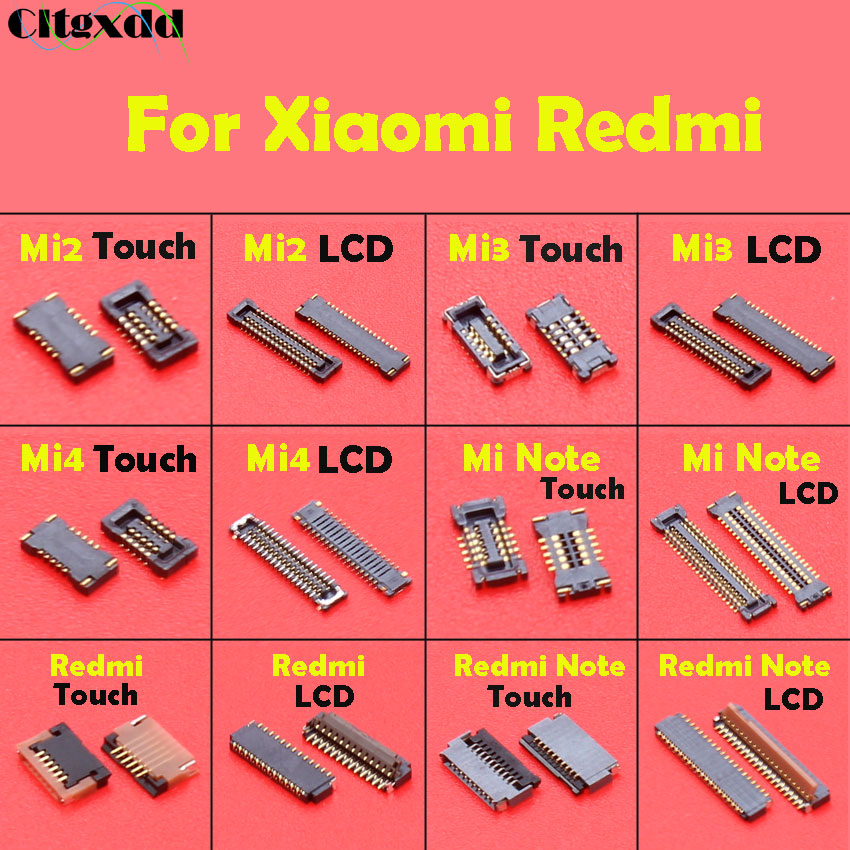 cltgxdd FPC Connector socket for Xiaomi Mi <font><b>4</b></font> Mi4 Mi2 Mi3 <font><b>Note</b></font> <font><b>Redmi</b></font> <font><b>Note</b></font> Touch & LCD Display Screen on <font><b>motherboard</b></font> mainboard image