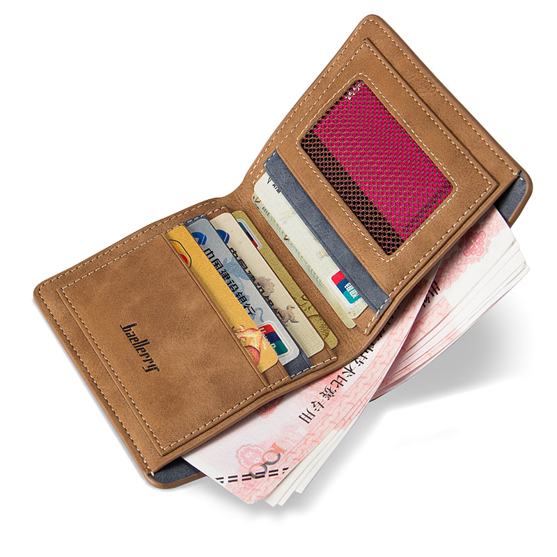 Baellerry Short Thin Slim Men Wallet Male Purse Cuzdan Small For Card Baellery Money Bag Carteras Portomonee Walet Perse Vallet