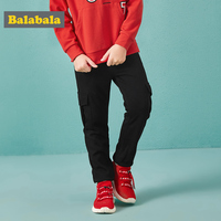 Balabala Boys Soft Cotton Cargo Joggers Sweatpants Sports Pants Teenage Boy Pull on Pants with Elastic Waist for Spring Autumn