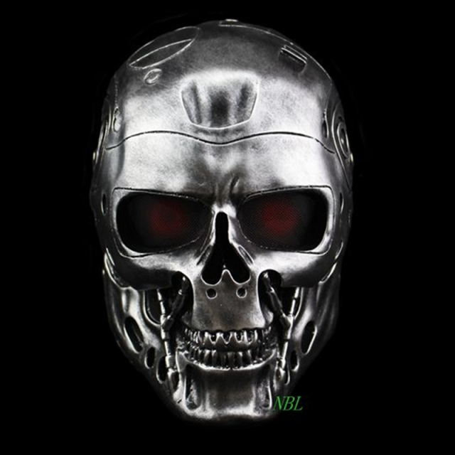 Halloween COS Terminator Helmet Masks Horror CS Paintball Ghost Creepy Resin Mask Masquerade Skull Movie Party Cosplay Props