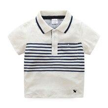 New Summer Childrens Boys Striped Short Sleeved Shirts