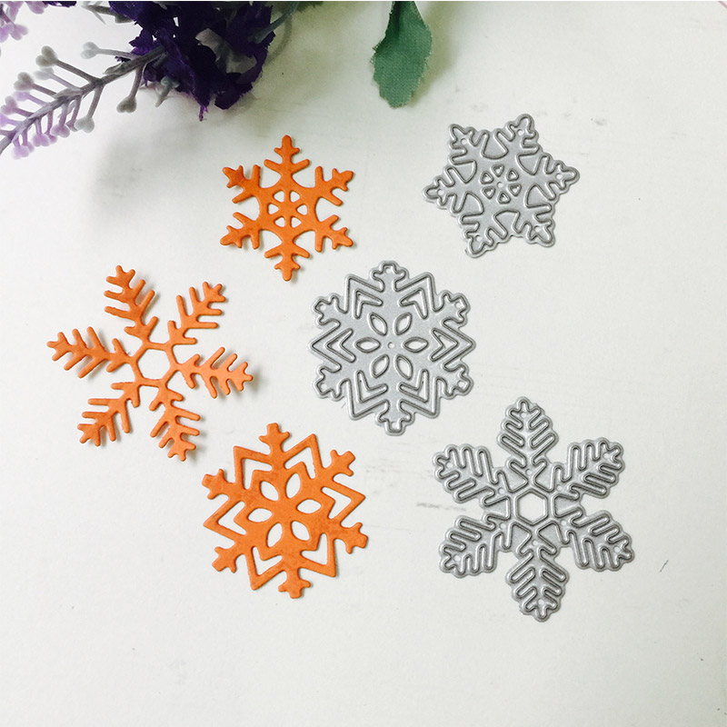 1× Snowflakes Metal Cutting Dies Stencil Scrapbooking DIY Album Paper Card Craft