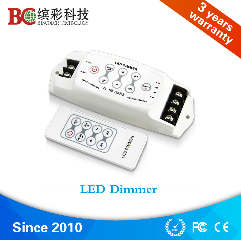 Wireless RF Touch Panel LED Dimmer; DC12V-24V Remote single color strip pwm dimmer - Zhuhai Bincolor Electronic Technology Co., Ltd. store