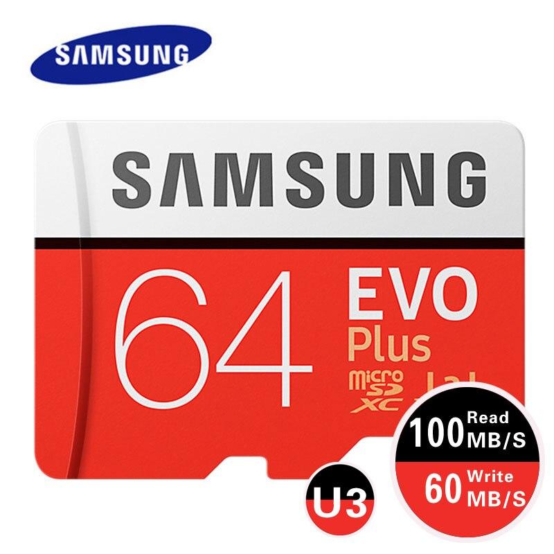 Samsung MicroSD Carte Mémoire EVO Plus 128 GB 64 GB U3 SDXC Micro Sd carte 32 GB U1 SDHC Classe 10 Microsd UHS-I TF Trans Flash Microsd
