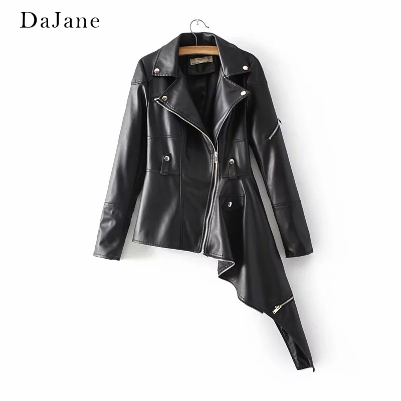Autumn New Female long-sleeved PU   Leather   Jacket Personality Fashion Shirt Manufacturers   Leather   Jacket Women