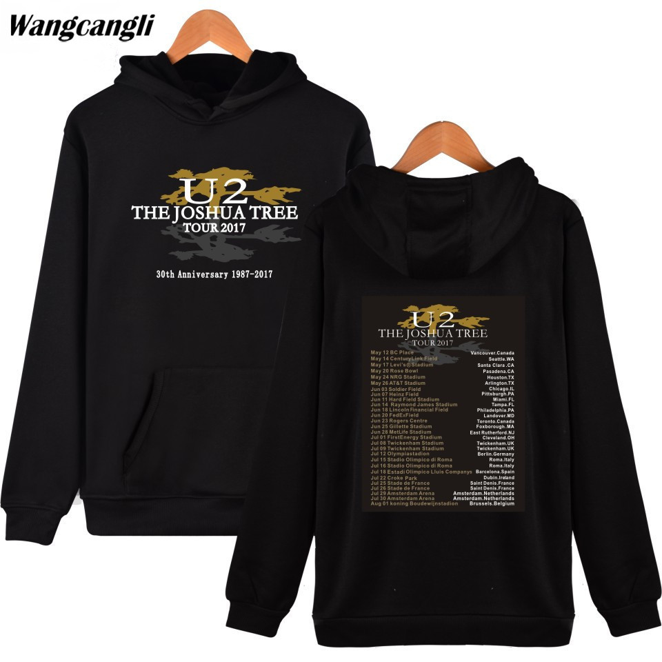 U2 Printed Hoodies And Sweatshirts Hip Hop Irish Popular Rock Band Casual Hoodie Sweatshirt Men/women Fashion Jacket Clothes