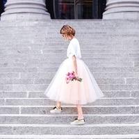 די ורוד אפרסק תה אורך טול חצאיות גברת יונג רוכסן מותאם אישית Made הנפוח אמצע שוק נשים חצאית טוטו באיכות גבוהה תחתון נשים