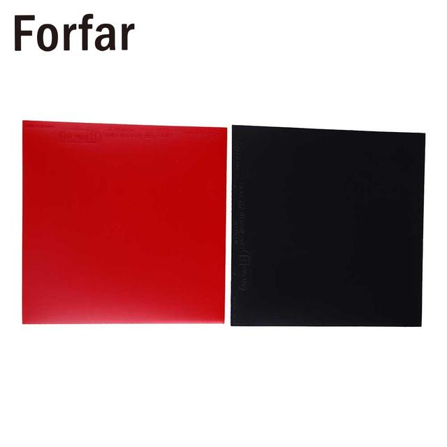 Forfar 2Pcs Table Tennis Racket Pips In PingPong Rubber Sponge Red/Black  High Quality