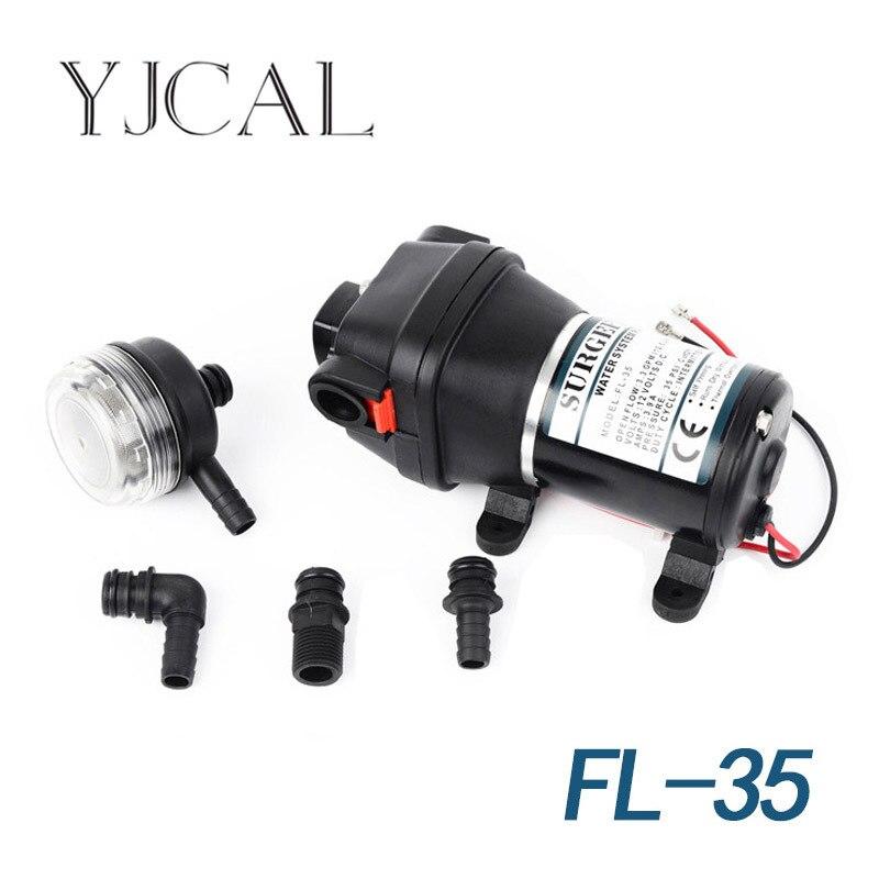 FL-35 12V 24V DC Electric Diaphragm Self Priming Shower Shower Pump Suction Pump electric dc brush 12v diaphragm medical pump