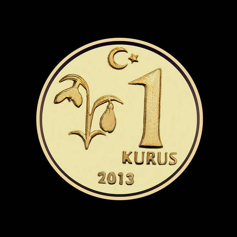 16.5 MILÍMETROS Turquia 1 Kurus Moeda