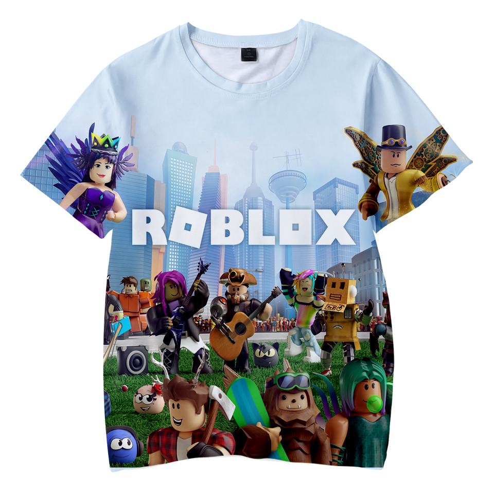 RECHALLENGE 2018 New 3D Roblox Print   T     shirts   Summer Short Sleeve Cool Kid's   T  -  shirts   Roblox   T     Shirts   Boys/Girls Tops Tee