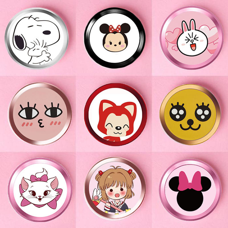 For Iphone Home Button Sticker Touch Id Cartoon Cute For Iphone 6/7/5 Home Button Sticker Button Sticker Support Touch ID Home