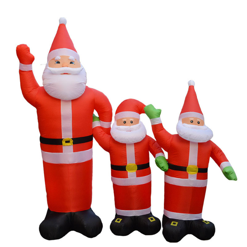 clear inventory 24m chirstmas decoration supplies santa claus inflatable christmaslowes christmas inflatable santa claus