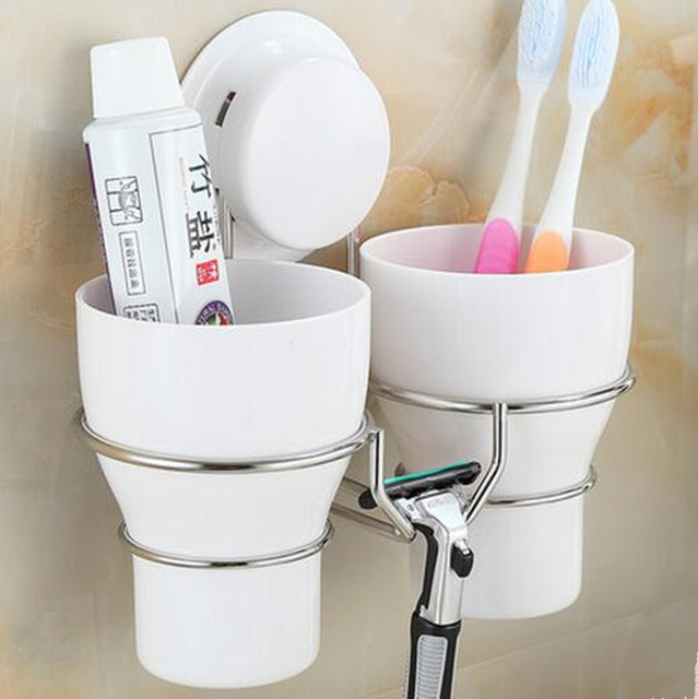 High Quality Stainless Steel Wall Toothbrush Holder Set 40 Wash Mesmerizing Decorative Bathroom Accessories Sets
