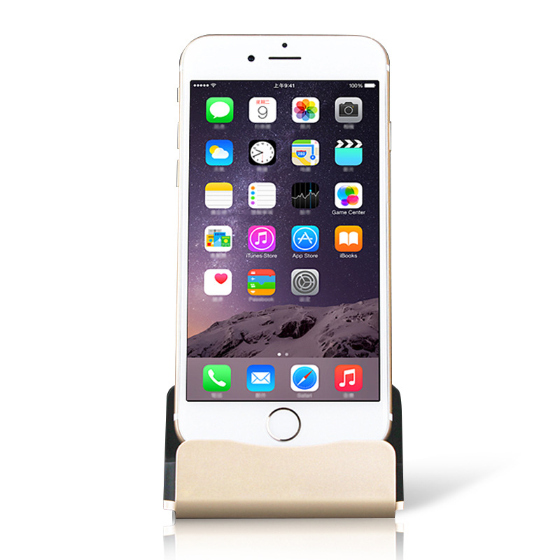 Mobile Phone Chargers For iPhone Android V8 Type C Stand Aluminium Alloy Desk Phone Holder Stand For iPhone Phone Charging Stand in Mobile Phone Chargers from Cellphones Telecommunications