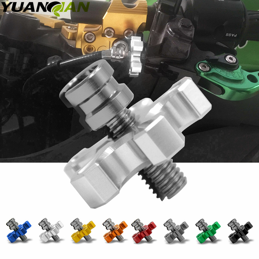 for yamaha YZF R125 R15 R25 r 125 15 25 mt-07 mt-09 mt 07 09 MT-09 FZ07 FZ09  Motorcycle CNC Clutch Cable Wire Adjuster Screw r 07