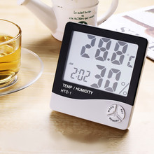 Buy online LED liquid crystal digital thermometers indoor/outdoor temperature hygrometer alarm clock thermometer diagnostic tool