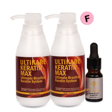 Without Formalin Brazilian Keratin Hair Treatment 2pcs 300ml Straighten Smoothy Hair+Small Free 10ml Argan Oil For Hair Repair