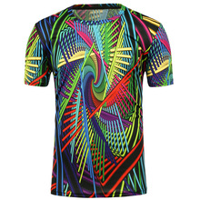 2017 New mens t-shirts 3D Digital One Side Printing shirt short sleeve O Neck Printed Shirts Fashion Tops Tees
