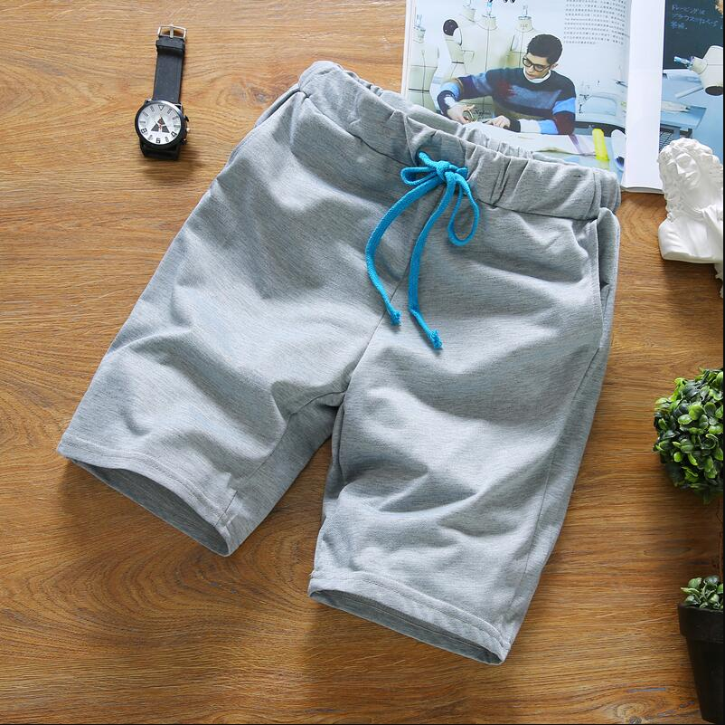 2019 Summer Shorts Men , High Quality Cotton Leisure Solid Color Shorts Male , Fashion Summer Short Male White S-3XL