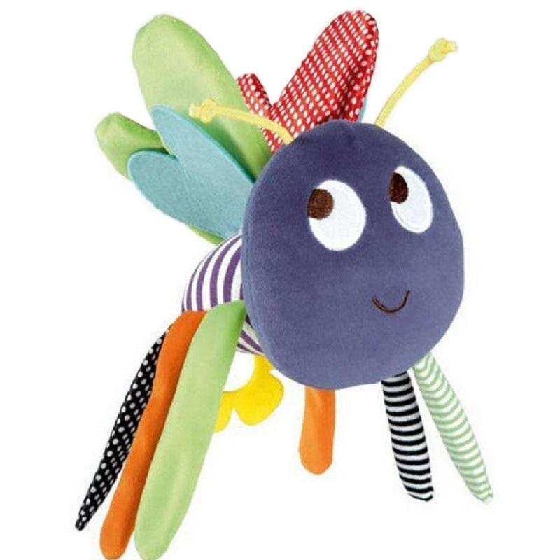 Naujas dizainas Gražus bičių kūdikio komfortas LatheToys Kid papildo muzikinį lovelę mobiliesiems kūdikiams žaisti žaislo kūdikių auklėjimo lėlės vežimėlį