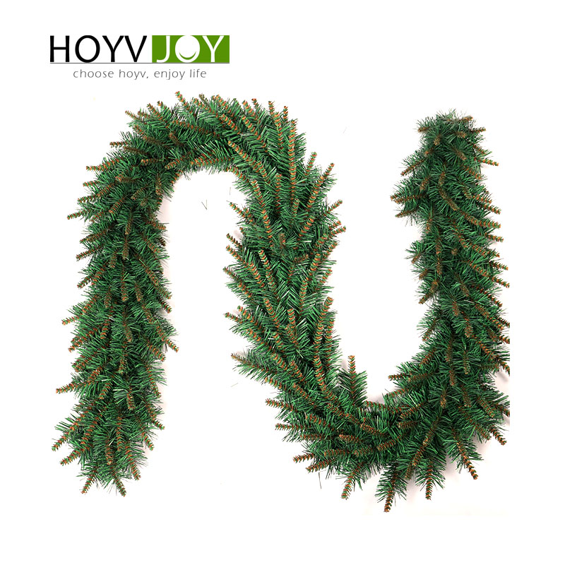 HOYVJOY Christmas Wreathes Decorations for Home With LED New Year Decor 2 7m Length Long Rattan in Wreaths Garlands from Home Garden