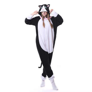 Kigurumi Animal Pink Cat Onesie Men Women Cartoon Matching Pajama Overall Adult Sleepwear Flannel Carnival Jumpsuit Fantasias - DISCOUNT ITEM  25% OFF All Category