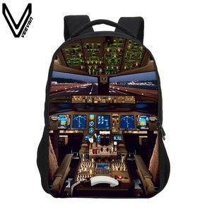 Рюкзак VEEVANV для девочек и мальчиков-подростков с принтом в виде воздушных судов, школьный рюкзак, школьные подарки