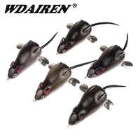 1Pcs Metal Spoon Rotating Bait Bells Sound lures 7cm 17.5g Mouse Lure Floating Simulation Fishing tackle Soft Bass Baits FA-454