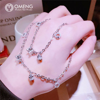 OMENG Fashion new personality three-dimensional H letter bracelet 925 sterling silver micro-cute sweet candy-shaped OSL029
