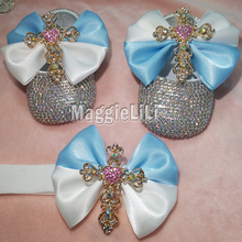 Melone AG Doll clothes. Add to Wish List. blue bowknot Custom Sparkle Bling  crystals AB Rhinestones Baby girls shoes infant 0-1Y ribbon a1c58f08ad34
