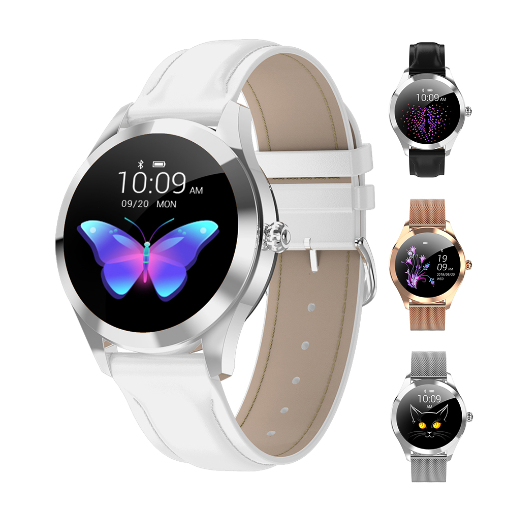 Women KW10 Smart Watch Heart Rate Monitor Fitness Watch Smartwatch IP68 Waterproof Sport Watch For Android IOS