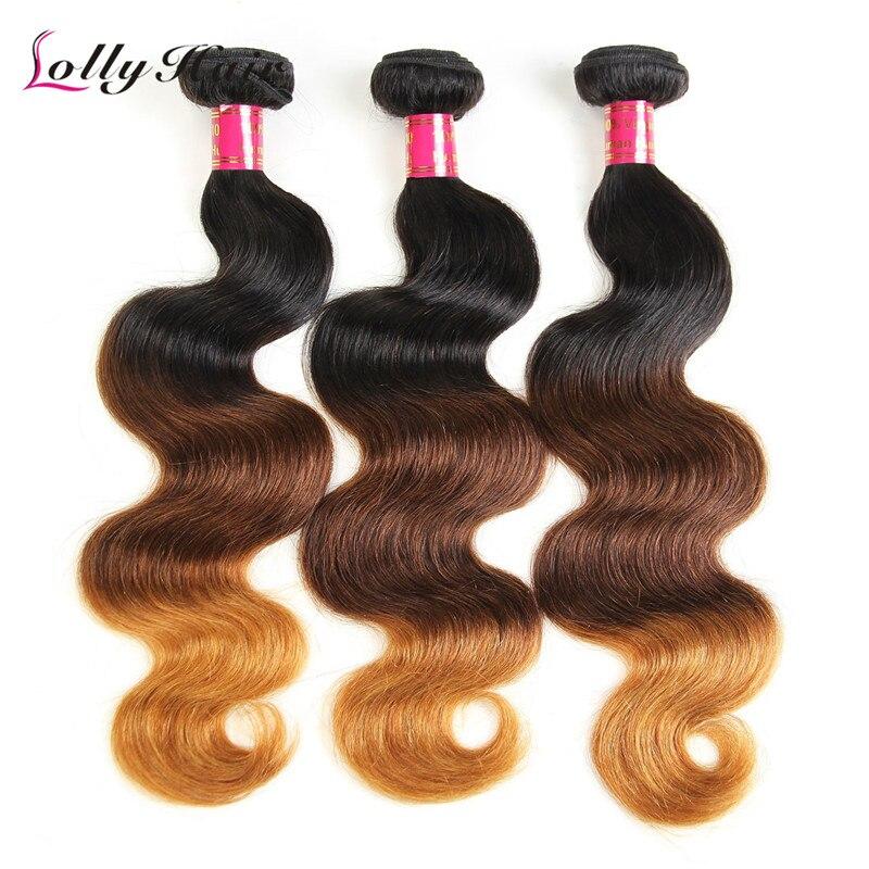 42ed1e55c Lolly Brazilian Virgin Human Hair Weaving Grade 8A 1B/4/27 Brazilian Ombre Body  Wave Hair Extension 3 pcs/lot free shop on Aliexpress.com | Alibaba Group